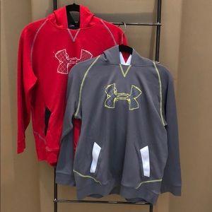Like new! Two UA Sweatshirts